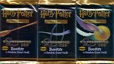 HARRY POTTER QUIDDITCH CUP COLLECTIBLE CARD GAME BOOSTER PACKS X3 FACTORY SEALED
