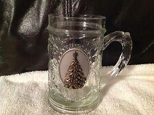Glass Holiday Christmas Mug Decorative Beautiful!