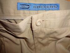 DOCKERS TOUR GOLF 100% POLY PLEATED CUFFED SLACKS PANTS 38X32 MINT