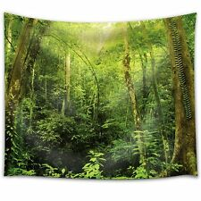 Wild and Old Trees in the Forest - Fabric Tapestry, Home Decor - 68x80 inches