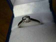 9k White Gold Ratanakiri Zircon Solitaire Ring