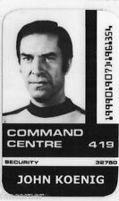 COSMOS 1999 Carte identification John Koenig Space 1999 John koenig id card