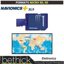 NAVIONICS+ XL9 CARTOGRAFIA MICRO SD - SD NAUTICA PER ECOSCANDAGLIO BARCA VELA