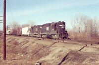N&W NORFOLK & WESTERN Railroad Train Locomotive 235 ERIE PA Original Photo Slide