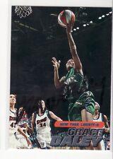 Grace Daley New York Liberty Tulane Smeared Autographed Basketball Card