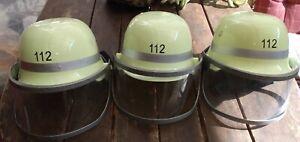Feuerwehrhelm Konvolut 3 Stück Kinder Feuerwehr Helm Karneval Fasching