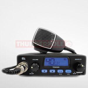 TTI TCB-555 12v CB Radio  UK / EU 80 Channel AM / FM Mobile 12 Volt Transceiver
