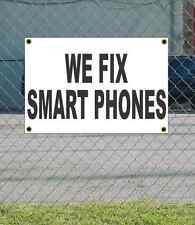 2x3 WE FIX SMART PHONES Black & White Banner Sign NEW Discount Size & Price