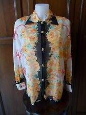 NARA CAMICE(made in Italy) Camicia Donna VINTAGE Women's shirt Tg/SIZE 4 ( I V )