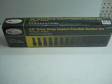 "KTI 10 Pc 3/8"" Drive Universal Swivel Deep Impact Socket Set  Metric NEW"