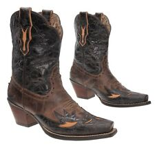 ARIAT Dahlia Cowboy Boots 9 B Womens Cutouts Distressed Tooled Leather Boots