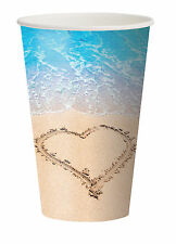 8 Wedding abroad Beach Party bridal Shower Hawaiian Beach theme Paper Party Cups