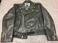 Harley Viking Cycle Leather Biker Jacket Motorcycle Size L / XL