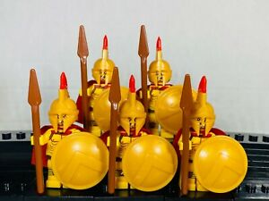 Spartan CUSTOM Soldier 5 Minifigure Lot Set with Weapons Block Trooper MOC