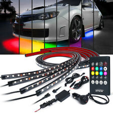 Xprite 4pcs RGB LED Light Strips Underglow Lights Kit Wireless Remote 8 Colors