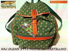 🍵 NAJ OLEARI Puro VINTAGE borsa ZAINO zainetto Backpack Bag 1991 con CARTELLINO