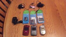 Motorola Razr Verizon V3M Cellular Phones, Batteries & Cords For Parts Only Lot