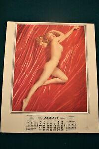 """Vintage 1954, Marilyn Monroe """"Golden Dreams"""" Nude Calendar"""