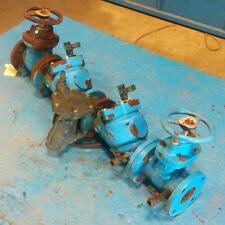 "WATTS REGULATOR 3"" BACK FLOW DOUBLE CHECK VALVE W/ (2) 3"" 200 CWP GATE VALVE"