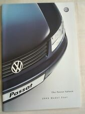 VW Passat Saloon range brochure 2000 model year Jan 2000