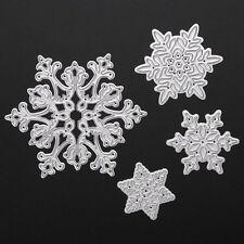 4pcs Christmas Snowflake Metal Cutting Dies Scrapbooking Album Paper Card Craft