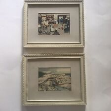 """2 Grandma Moses Framed Prints 8"""" X 10"""" """"Hoosick Falls In Winter"""" and """"The Tramp"""