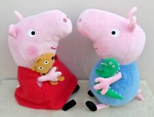 ty Peppa Pig's PEPPA Pig With Her TEDDY & GEORGE Pig With His DINOSAUR SoftPlush
