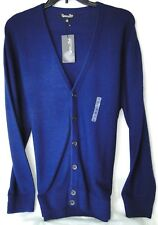 Blue Cardigan Sweater Palmer Vintage-COOL in 100% Acrylic MSRP $50 NWT - XL