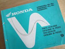 NOS Honda XR250R XR250 Parts Manual 9   13KK1E49  Re Rf Rg Rh Rj Rk Rl