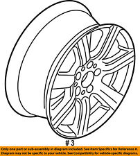 Mercury FORD OEM 10-11 Milan-Wheel-Alloy Aluminum 9N7Z1007A