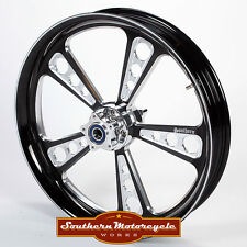 Southern Black Octane Front 18X3.5 Custom Wheel Harley Touring Single W/O ABS