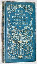 c 1906~SACRED POEMS OF HENRY VAUGHAN~Silex Scintillans etc~CHRISTIAN~ART NOUVEAU