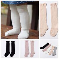Filles tout-petits collants coton chaussettes haute bébé chauffage