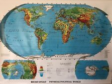 Pull Down School Maps 1 Layer World Map. Vintage, Salvage, Old, Antique.
