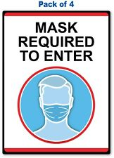 4 FACE MASK REQUIRED TO ENTER STICKER - Office Retail Store Business Decal Sign