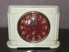 vintage clock alarm jaz retro desk  Art Deco design  Mechanics uhr old french