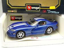 Burago 1/18 - Dodge Viper GTS Bleue