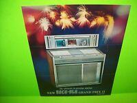 Rock Ola Grand Prix II Model 426 Original 1965 Jukebox Music Phonograph Flyer