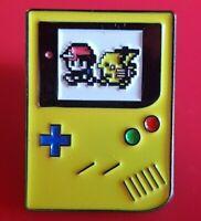 Gameboy Yellow Pin Pikachu Pokemon Enamel Brooch Lapel Badge Cosplay Gift POGO