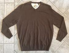 Cabelas Men's Brown Wool Blend V-neck Sweater Size XLarge Mens Knit
