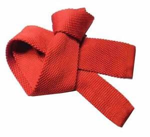 CRAVATTA Maglia uomo ROSSA TRICOT ROSSO tinta unita cravatte rosse lavorate