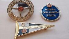 3 X Classic MG Sport grill badges- MG GT, TF,MGB ,MGC,MIDGET classic grill badge