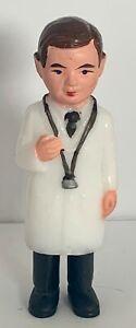 Vintage Cake Topper Medical Doctor Man Male White Coat Graduation Congratulation