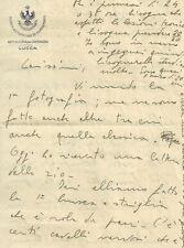 Lettera Scuola Allievi Ufficiali Artiglieria Campagna Lucca Memorie Soldato 1930