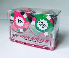 RARE Vintage 1993 Madelaine Chocolate HIGH ROLLER Poker Chips Candy Container