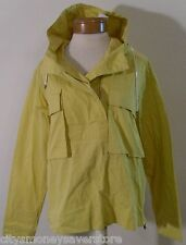 NWT Lacoste Womens Popover Hooded Gab Jacket 8 Yolk Yellow BF1186-51 MSRP$275