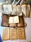 Leather Military Bag w Name w Various Maps from France Regions