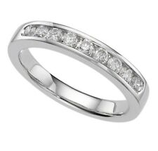 9ct White Gold Ladies natural Diamond half eternity channel set 0.33 half price