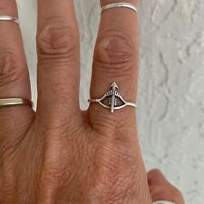 Sterling Silver Bow and Arrow Ring, Boho Ring, Silver Rings, Target Ring