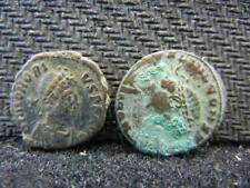 New listing Two Ancient Roman Bronze Coins Lot 486